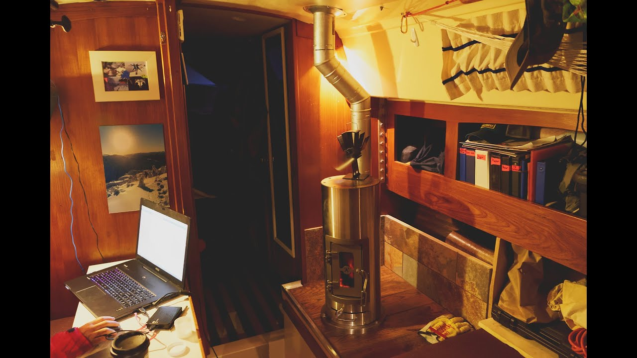 Kimberly Wood Stove Installation On A Sailboat S1 Ep15