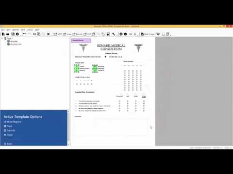 Remark Office OMR Tutorial 2 Video - The Hospital Stay Survey