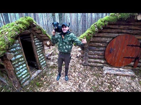 Построил лесную баню.Жареная