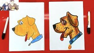 как нарисовать Собаку. Урок рисования для детей от 4 лет, РыбаКит
