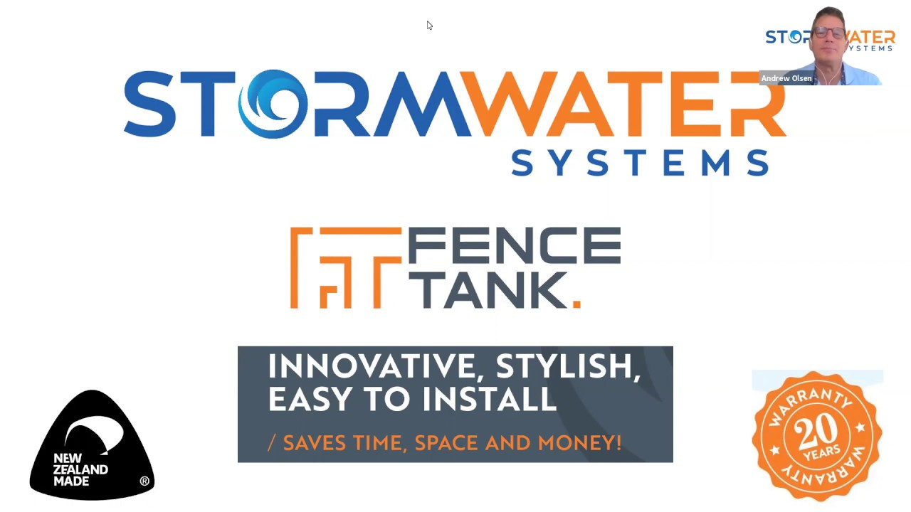 The Fence Tank Webinar - by Stormwater Systems