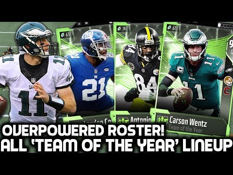 ALL 'TEAM OF THE YEAR' TEAM! OVERPOWERED SQUAD BUILDER! Madden 18 Ultimate Team