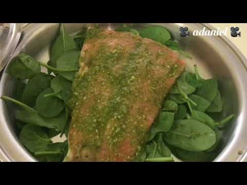 Saladmaster Salmon Pesto with Spinach
