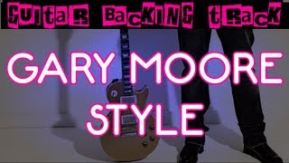 Gary Moore Style Guitar Backing Track (Am) | 60 bpm - MegaBackingTracks