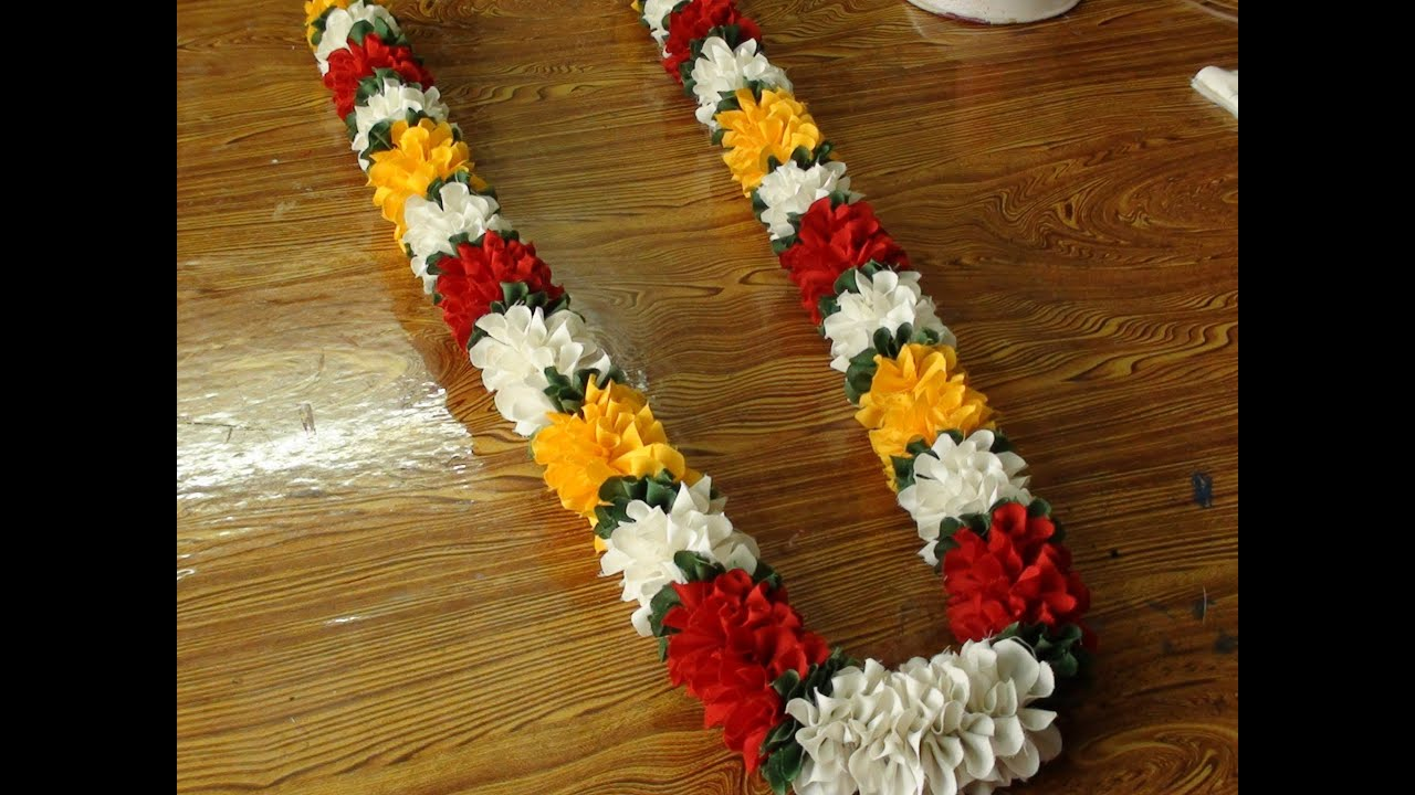 Do It Yourself A Polyester Cloth Garland YouTube