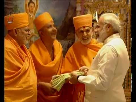 PM Modi attends the silver jubilee celebrations of Swaminarayan Akshardham in Gandhinagar,Gujarat