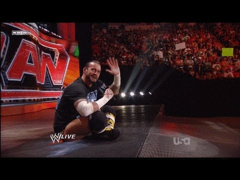 CM Punk Shoot On RAW 06/27/2011