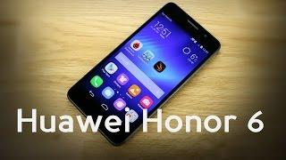 смартфон Huawei Honor 6 знакомство, плюсы и минусы