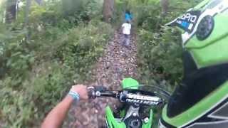 Kids run away from dirtbike!