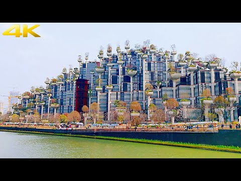 4K Shanghai 1000 Trees Mall&Sakura Market|Hanging Gardens of Babylon in China 上海天安千树广场市集|中国版古巴比伦空中花园