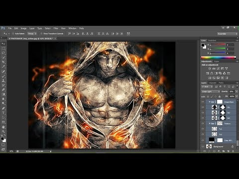 Fury Photoshop Action Tutorial | Photoshop CS6