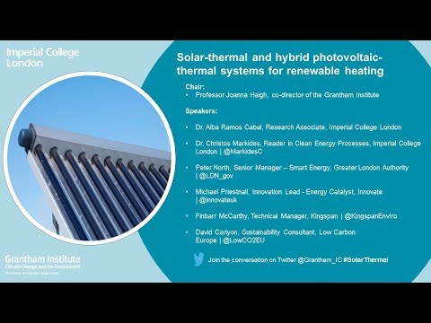 Solar thermal and hybrid photovoltaic thermal systems for renewable heating