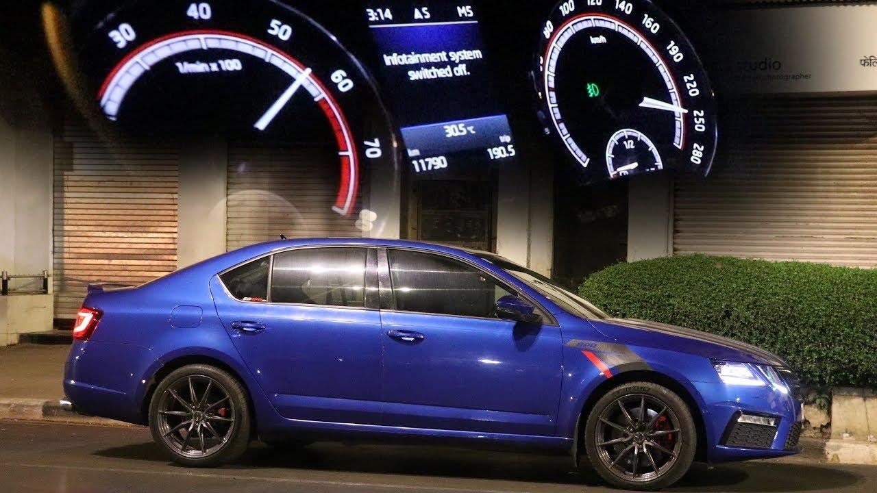 Download Top Speed Driving Skoda Octavia VRS in Mumbai Midnight | APR Stage 3 | 410 HP