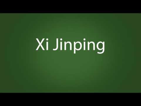 How to pronounce Xi Jinping