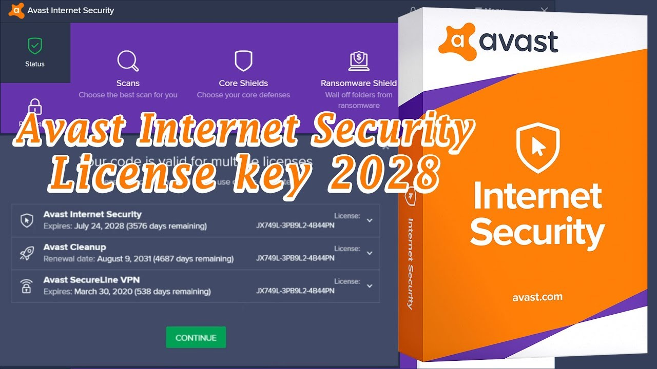 Avast Internet Security License key Till 2028 (100% ...