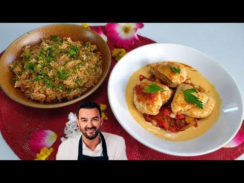tous-en-cuisine-#36---le-poulet-basquaise,-riz-cuisinÉ-et-crÈme-de-chorizo-de-cyril-lignac-!