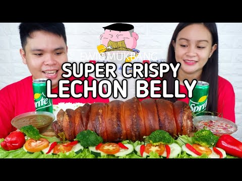 Super Crispy Lechon Belly Mukbang / Filipino Food Mukbang / Pinoy Food Style / Mukbang Philippines