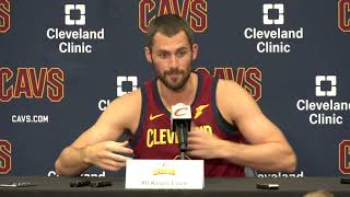 Kevin Love talks about Kyrie and Isaiah Thomas at Cavs Media Day 2017
