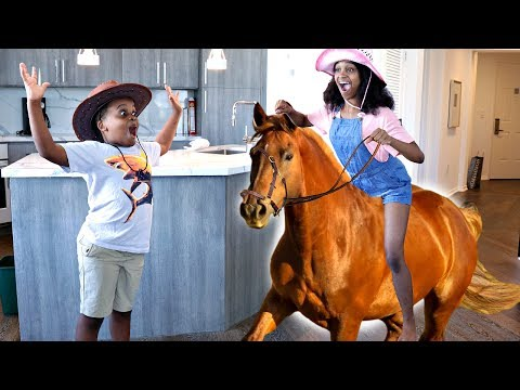 Thumbnail: HORSE GOES WILD IN THE HOUSE AGAIN! - Shiloh and Shasha - Onyx Kids