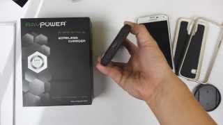 samsung galaxy s5 and ravpower 2 in 1 qi wireless charging power bank 4800mah