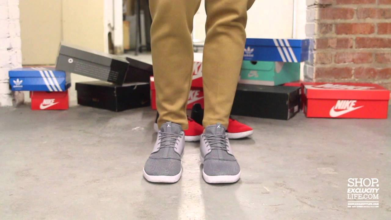 e60b64c3b3d Jordan Eclipse Wolf Grey - Cool Grey On feet Video at Exclucity - YouTube