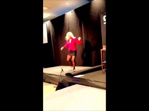 TAP DANCE Inspirational speaker Camilla Uddgren & musician Fredrik Larson