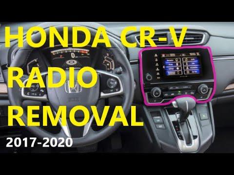 How To remove RADIO on Honda CRV 2018 2017 2019