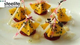 Michelin Star Chef Simon Hulstone creates a beetroot and goats cheese recipe
