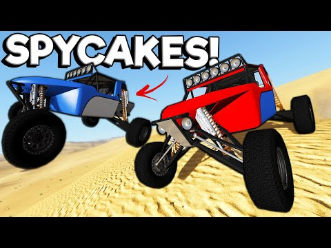 Spycakes & I Raced the FASTEST Dune Buggies! -  BeamNG Multiplayer Mod Gameplay