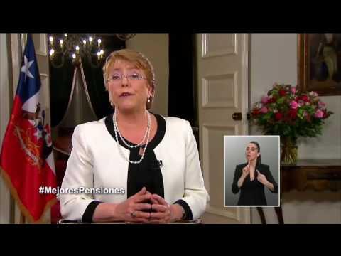 Cadena Nacional de la Presidenta Michelle Bachelet - 9 de agosto 2016
