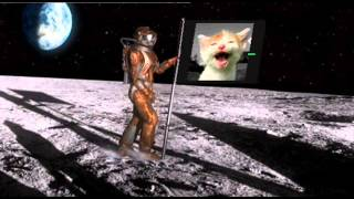 The Laughing Cat lands on the Moon