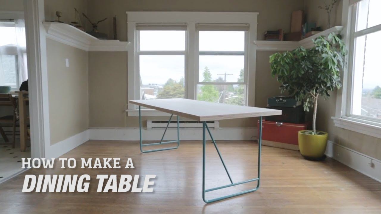 How to Make a DIY Mid-Century Modern Dining Room Table - YouTube