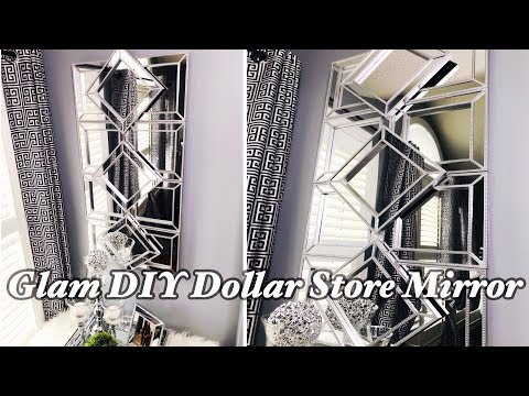 Glam DIY Dollar Store Mirror | Dollar Store DIY | Glam Wall Mirror