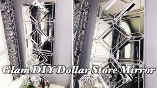 Glam DIY Dollar Store Mirror | Dollar Store DIY | Glam Wall Mirror