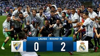 Malaga 0-2 Real Madrid Real Madrid HD 1080i Full Match Highlights & Celebration (21/05/17)
