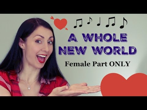 A WHOLE NEW WORLD: Jasmine (Female Part Only) - Sing with Me.