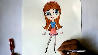 how to draw blythe from littlest pet shop