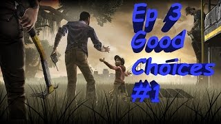 The Walking Dead Ep. 3 Long Road Ahead - Good/Funny Choices Part 1 (PS4 1080p60fps)