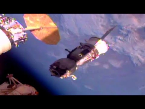 Full ISS Expedition 49 - Soyuz MS-01 undocking coverage