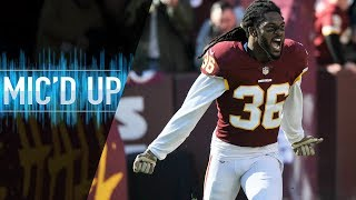"DJ Swearinger Mic'd Up vs. Falcons ""I need to see a dog make a play! No puppies!"" 