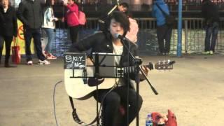 陳奕迅~阿貓阿狗 (cover by Key Ng) @尖沙咀碼頭Busking (2015.12.19)