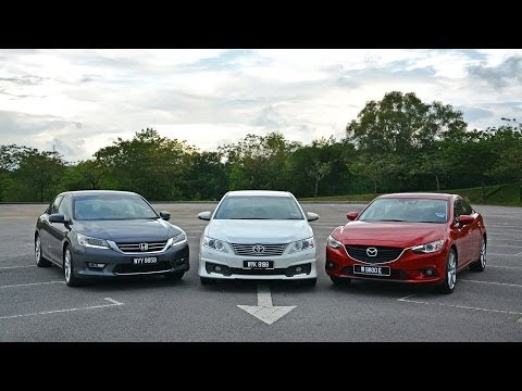 DRIVEN #5: Toyota Camry 2.5 vs Honda Accord 2.4 vs Mazda6 2.5