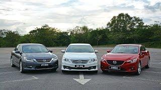 DRIVEN #5: Toyota Camry 2.5 vs Honda Accord 2.4 vs Mazda6 2.5 thumbnail