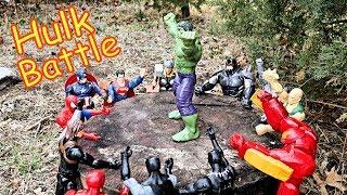 Халк проти Тора, Залізна Людина, Капітан Америка, Чорна Пантера, Людина-Павук, Супермен повний бій!