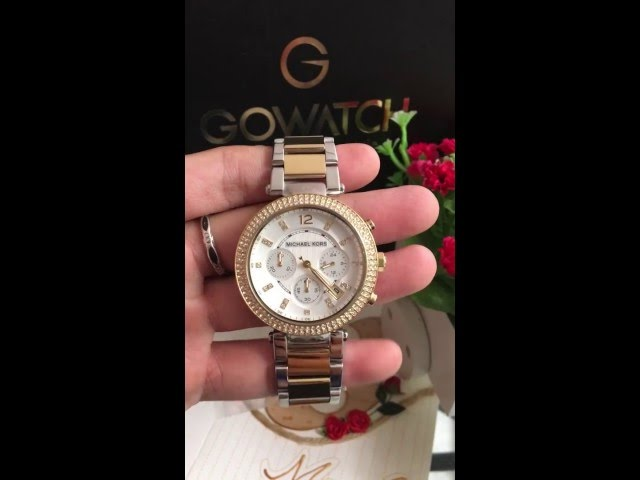 3d4d044cea8c VIDEO Review) Michael Kors Women s Parker Two-Tone Watch MK5626 ...