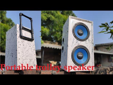 DIY Portable TROLLEY Speaker | Homemade Powerful Bluetooth Speaker