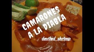CAMARONES A LA DIABLA - DEVILED SHRIMP - Lorena Lara