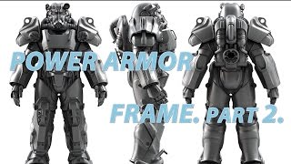 Power armor frame. Part 2. Cosplay Fallout 4. Metal power armor.