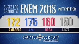 Gabarito ENEM 2018 CHROMOS - Prova Amarela: Questão 172   Matemática