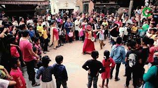 Children Lakhe Dance at Bagh Bhairab Temple Kirtipur l बच्चाहरुले  पनि यस्तो  लाखे  नाचे l